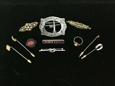 Lot Of Vintage Pins/Brooches & Other Items-Cameo Ring-Trifari