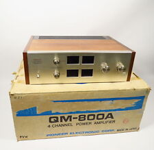 VINTAGE 1970s PIONEER QM-800A 4 CHANNEL QUAD POWER AMPLIFIER WITH ORIGINAL BOX
