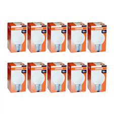 10x Osram Glühbirne Tropfen 60W E27 MATT Glühlampe 60 Watt Glühbirnen Glühlampen