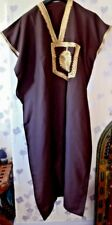 "MENS TRADITIONAL  DJELLABA / ROBE ~ BROWN ~ 56"" WIDE x 50"" LONG"