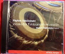 Payton MacDonald Work for Tabla & Percussion Shawn Mativetsky University of Mich