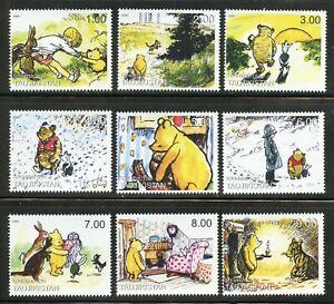 Winnie the Pooh Christopher Robin Piglet Tigger mnh set of 9 stamps Tajikistan
