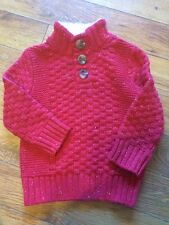 Brand New Cat & Jack Speckled Red Sweater Sherpa 18 MO Twins Triplets Christmas