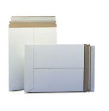 "10 Pack - 6X8"" CD DISC MAILER RIGID ENVELOPES STAY FLATS PLUS WHITE Peel & Seal"