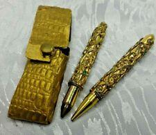 Vintage Ornate Gold Tone Pen/Pencil Set