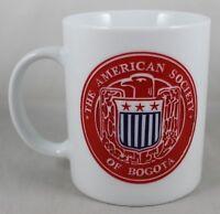 The American Society of Bogota Mug White & Red Ceramic Cup