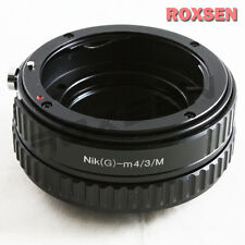 Nikon F mount G AF-S Lens to Micro 4/3 Adapter Macro Focusing Helicoid E-P5 GX7
