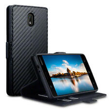 Nokia 3 Rugged Book Case High Density Composite Carbon Protective Folio Black