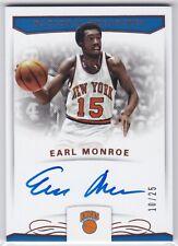 Earl Monroe 2017-18 National Treasures BRONZE Signatures Auto 10/25 Knicks NBA