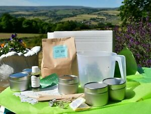 Soy Candle  and Wax Melt  Kits with FREE Pack Scented Simmering granules