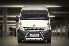 Edelstahl Frontbügel mit ABE für Renault Master ab 2010 mit Unterfahrschutz