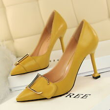 07df9387415c Women's Ladies High Heels Pointy Toes Stiletto Court Shoes Pumps Formal 7  Colors