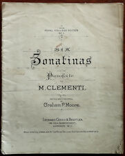 More details for six sonatinas for the pianoforte by m. clementi antique music pub. early 1900's