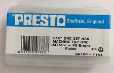 Presto UK 7/16 x 14tpi HSS UNC 3er Set gewindebohrer / Direkt vom RDGTools
