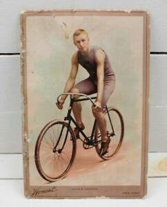 1894 N142 Honest Cabinets John S. Johnson Cyclist Cabinet Card Low Grade