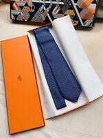 Hermes Paris Men's Neck Tie 100% Silk Made In France w/Box BRAND NEW