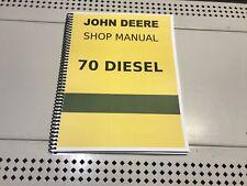 70 Diesel Model Specific John Deere Technical Service Shop Repair Manual