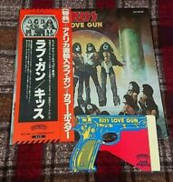 KISS LP Love Gun Victor 1st Press w/Paper Gun VIP-6435 Assembled LOVE GUN