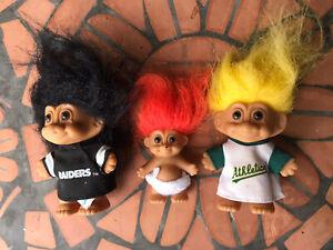 Trolls, Fury Troll Sports, Vintage Figures