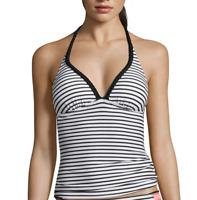 Arizona Mix & Match Stripe Push-Up Tankini Swim Top Size S New Msrp $32.00