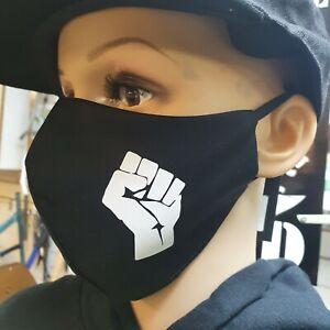 *BLACK POWER* Washable Facemask dusk pollen Face Mouth Mask handmade UK panther