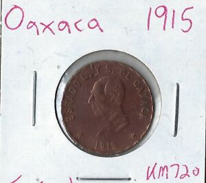 Coin Mexico (Oaxaca) 5 Centavos 1915 KM720, Low combined Shipping