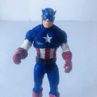 "Vintage Marvel Toy Biz Captain America 4"" Action Figure"