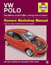 Haynes Owners Workshop Manual Volkswagen VW Polo 2009-2014 SERVICE REPAIR
