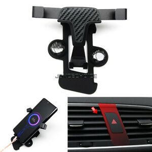 LHD For Audi Q3 8U 2013-18 Central Console Cell Phone Holder Mount Charger Stand