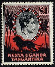 Kenya, Uganda, Tanganyika 1941 £1 black & red (p.14), MH (SG#150a)