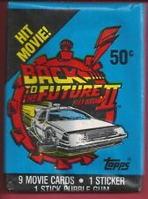 1989 Topps Back to the Future II single Wax Pack