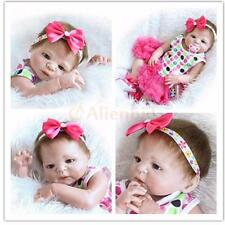 "23"" Reborn Baby Girl Doll Full Body Vinyl Silicone Handmade Lifelike Kids Toys"