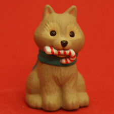 Hallmark Merry Miniatures Christmas 1994 Sled Dog Candy Cane QFM8306 Puppy