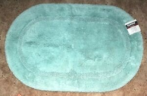 Cannon Luxury Hygrocotton Ultimate Oval Bath Rug  Canal Blue