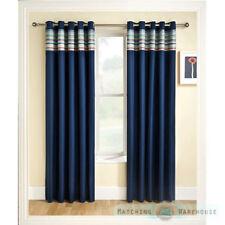Rideaux et cantonnières bleus en polyester pour le salon