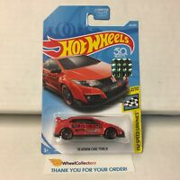 '16 Honda Civic Type R #126 * RED * Limited FACTORY SET 2018 Hot Wheels * E38