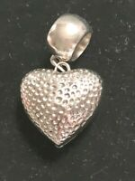 'Heart' Scarf Slide Charm VALENTINES GIFT  Silvertone  (Scarf not included)