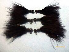 Steelhead-- Trout Black Marabou Jigs 1/16 oz. (X6)