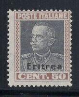 Eritrea 1928 Sass. 128 Nuovo ** 100% 50 centesimi