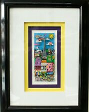 """Charles Fizzino """"Rive Gauche"""" Number 29/75 16in x 12in framed 3D Artwork"""