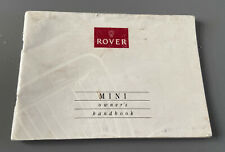 ROVER MINI OWNERS MANUAL HANDBOOK & FOLDER WALLET BOOK PACK 1.3 COOPER 1990-2000