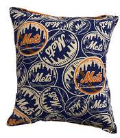 Mets Pillow NY Mets New York 2020 MLB Pillow Handmade in USA Met Baseball Pillow
