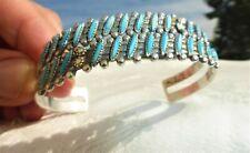 Statement bracelet Navajo stretch bracelet Southwest bracelet vintage copper stretch bangle gift Zuni turquoise bracelet free shipping