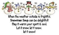 CUTE SNOWMAN SOUP Stickers x 42  Jolly Snowmen Frosty design🎅 Christmas Gifts