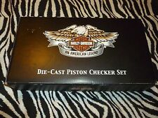 Harley Davidson Die-Cast Piston Checker Set - New But Has Been Opened