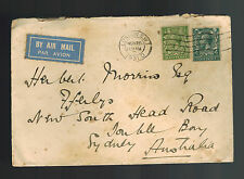 1931 London England Airmail Cover to Sydney Australia Imperial Airways