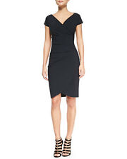 $680 LA PETITE ROBE di CHIARA BONI EMERENTIENNE DRESS, NAVY BLUE  SZ 44/8 NWT