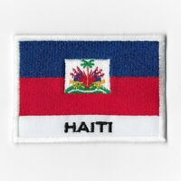 Haiti National Flag Iron on Patches Embroidered Applique Badge Emblem