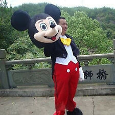 Good!! Adult Mickey Mouse Costume Character Cartoon Mascot Outfit New Disney