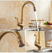 Miscelatore rubinetto lavabo da cucina ottone effetto bronzo antico vintage